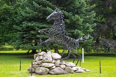 Thale - Achtbeiniges Pferd Sleipnir (Mythenweg) (www.nbfotos.de) Tags: statue skulptur pferd harz sleipnir thale friedenspark sachsenanhalt mythenweg achtbeinigespferd