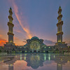 Masjid Wilayah Sunset Vertorama (Nur Ismail Photography) Tags: decorations evening minaret muslim prayer mosque dome hdr islamic placeofworship masjidwilayah nurismailphotography nurismailmohammed nurismail