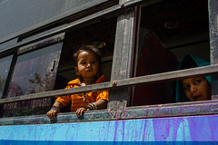 Kid on the Bus (arnklit) Tags: street woman india bus kids child streetphotography places rajasthan