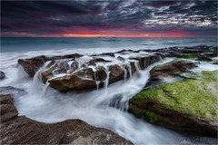 water like sand (Maciek Gornisiewicz) Tags: burns beach indian ocean perth western australia sunset evening dusk landscape seascape clouds rocks west coast shore canon tripod filter 1635mm 5dii maciek gornisiewicz darkelf photography waterlikesand 2014 sundaylights