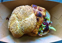 chicken sandwich with spicy slaw from Roli Roti in San Francisco (Fuzzy Traveler) Tags: sanfrancisco chicken sandwich ferrybuilding roliroti