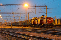 Freight train (ArtDvU) Tags: autumn fall train finland diesel locomotive freight vr 2012 dv12 finnishrailways