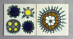 Tiles designed by Ann Wynn-Reeves (robmcrorie) Tags: 1969 tiles clark ann wynn 1977 kenneth reeves designed annwynnreeves wynnreeves