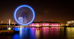 London Eye (80D-Ray) Tags: longexposure skyline night londoneye