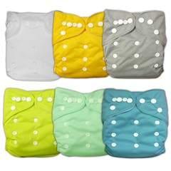 Besto Baby 6pcs Pack All In One Washable Fitted Pocket Cloth Diaper Nappies 6 Diaper Covers + 6 Inserts (Classic) (whatiscopyright) Tags: computer buy 2014