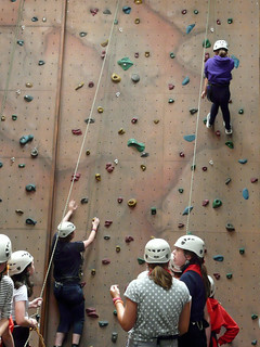 climbing walls--recruitment tools for colleges.