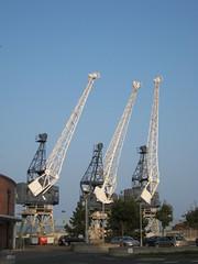 Abandoned Giraffes! (miketransreal) Tags: docks dock edinburgh albert basin september leith 2014