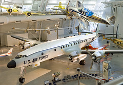 The Museum's Lockheed C-121C (1049F-55-96), shown here on display at the Udvar-Hazy Center in Chantilly, VA, is one of thirty-three C-l2lCs delivered to the USAF and the Atlantic Division of the Military Air Transport Service at Charleston AFB, South Caro (aeroman3) Tags: si nasm lockheedmodel1049fc121csuperconstellation nasmmuseums udvarhazycenteruhc exhibitsairplanesaeronauticsaeronauticsmilitary