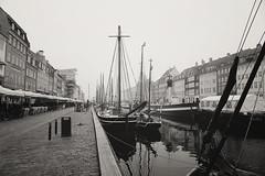 Nyhavn, Copenhagen, Denmark (Ben Harmsen) Tags: sea bw mist reflection water canon copenhagen denmark boats nyhavn harbor bokeh 6d 24105 f4l occean 24105mm