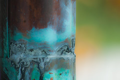 (jillwh) Tags: dof verdigris pipe drain