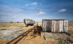 Dungeness fishing boat ( Explored 10 September 2014 ) (c.richard) Tags: kent fishing pebbles dungeness fishingboat bigskies sigma1020mm