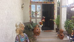 Ready For Fall (cjacobs53) Tags: door autumn orange fall bench pumpkin scarecrow screen front step jacobs jacobsusa