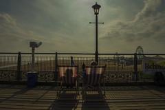 Pier (vandal221984) Tags: sunset beach pier chair nikon deck 14mm d3200 rokinon