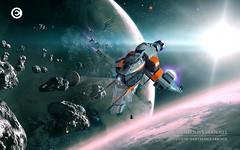 Caldari Hookbill - Space Scene (Brixnspace) Tags: ship lego space spaceship moc 2014 caldari hookbill foitsop shiptember