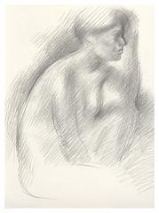 1995? Drawing nude  (Masayo Nabeshima) Tags: pencil paper nude drawing dessin study