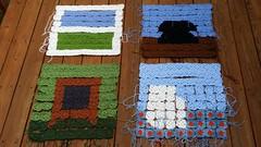 I get a start assembling the corner panels (crochetbug13) Tags: window television square squares telephone statefair crochet northcarolina stove northcarolinastatefair grannysquare grannysquares