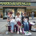 Craftivist stitch-in for a Living Wage at M&S SHEFFIELD