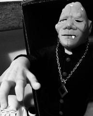 Blushing Frankenstein (tommyhaire1) Tags: frankenstein blushing toy black white japanese toys vintage horror halloween