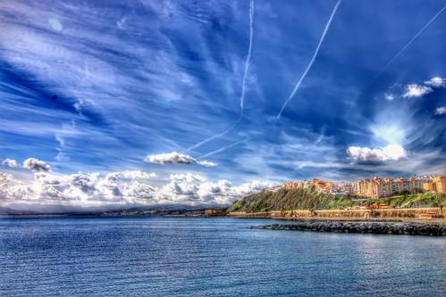 Playa del Chorrillo de Ceuta.