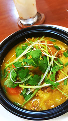 Vietnamese curry (Roving I) Tags: vietnamesecuisine curries yoghurt dining restaurants cafes breadoflife danang vertical vietnam coriander cilantro springonion