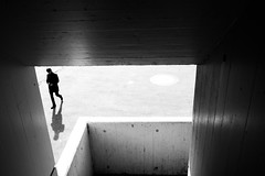 Bold-Framed (Ivan Rigamonti) Tags: monochrome streetphotography zurich backlight