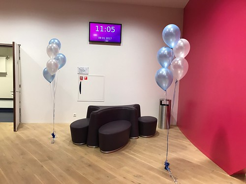 Tafeldecoratie 5ballonnen Gronddecoratie Theater De Stoep Spijkenisse