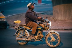 Driving Home (toletoletole (www.levold.de/photosphere)) Tags: fujixt2 marokko zagora morocco street people menschen porträt man vehicle portrait mann fahrzeug scooter motorroller zagora2011