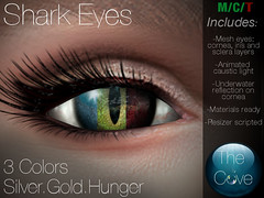*The Cove* Shark Eye Poster (Kol Tchailenov (*The Cove*)) Tags: cove shark eye mermaid siren caustics mesh eyes sl second life