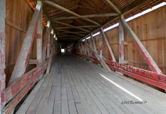 Medora Covered Bridge - Interior (John H Bowman) Tags: october indiana coveredbridges 2014 jacksoncounty medorabridge nrhp indianacoveredbridges canon1635l burrarchtruss october2014