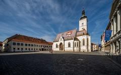 Zagreb (01) - St.Mark's Square (Vlado Fereni) Tags: croatia zagreb markovtrg nikond600 sigma12244556 stmarkssquer