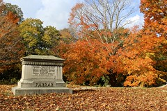 Autumn in the Cemetery (Read2me) Tags: she autumn trees orange cemetery grave colorful cye gamewinner thechallengefactory pregamewinner