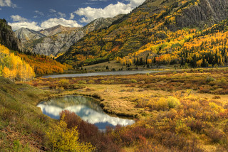 Red Mt in fall reflecting_Panorama8