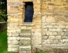 Back entrance of a church (Tony Worrall Foto) Tags: county door building church stone town high place secret side north steps entrance doorway northumberland area portal northern northeast warkworth backentrance stlawrencechurch 2014tonyworrall