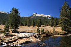 Cathedral Peak 3 2 9-23-14 (moelynphotos) Tags: reflection nature landscape nationalpark scenery yosemitenationalpark cathedralpeak moelynphotos