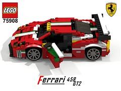 Ferrari 458 GT2 - Lego Nr. 75908 (2015) Recreated (lego911) Tags: auto birthday car speed model lego render gt 7th coupe challenge champions gt2 cad lugnuts ferarri povray 84 moc berlinetta ldd 458 recreated miniland 75908 lego911 lugnutsturns7or49indogyears