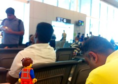 The Day has Arrived for us to leave and depart for home! :-) I'll miss this place! :-( (parik.v9906) Tags: trip travel blur project airplane fun airport waiting dof lego awesome goa flight days international legos end 365 minifigure emmet minifigures iphoneography