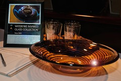 Gather Glass collection up for Silent Auction (Photo by Jen Bonin)