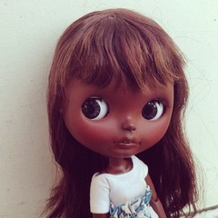 Her name is Zahara #ooakblythe @blythedoll #blythecustom #africanblythe #eblblythe
