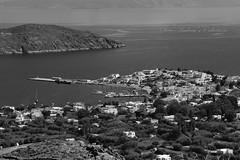 Livadakia & harbour (Steve Androu) Tags: bw blackwhite hellas greekislands serifos