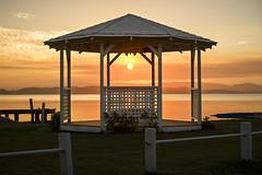 Squid's Gazebo (Amanda Ayre) Tags: sunset lake belmont jetty newsouthwales lakemacquarie squidsink amandaayre