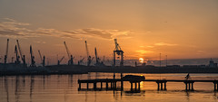 Amanecer (juanjofotos) Tags: puerto mar amanecer aurora grao marmediterrneo graodecastelln geoetiqueta nikond800 juanjofotos juanjosales