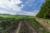 "Muddy Tracks (M J Robinson Photography) Tags: green landscape photography scotland nikon farm hill crops moray auchindoun auchindouncastle d5100 ""nikond5100"" ""farmland"""