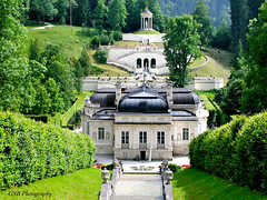 Schloss Linderhof From the Cascade, Bavaria (GSB Photography) Tags: germany linderhof palace bavaria ludwigii cascade terrace mansion gardens 500v20f 1000v40f 1500v60f aplusphoto deutschland