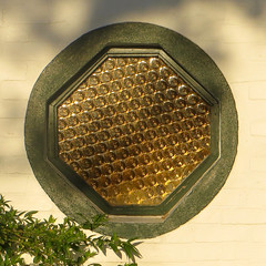 Dappled Geometry (ToBoote) Tags: wood light brick window glass circle square triangle pattern painted mortar frame hexagon rectangle octagon dapple rhombus tangent trapezium equilateral