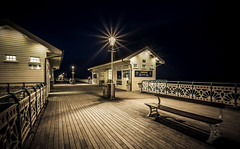 Penarth Pier (technodean2000) Tags: uk light lamp wales night bench pier nikon post seat south cardiff sigma shops pavilion 1020mm penarth lightroom f35 d5200