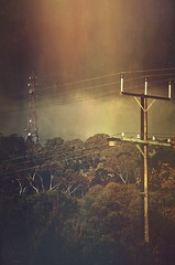 Now Broadcasting (Spacemonkey1999) Tags: sky cloud tree tower lines dark grey tv power infrastructure electricity adelaide sa mextures