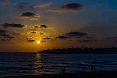 Sunset Over Akko (Pablo Margulies) Tags: city sunset sea color beach silhouette night clouds dark mediterranean cityscape pentax shore k5 nightonearth smcpfa43mmf19