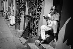 A good book is all I need (StreetPeople) Tags: portrait blackandwhite bw monochrome photography blackwhite moments candid streetphotography documentary streetphoto unposed blacknwhite bnw streetpeople tog decisivemoment streetcandid streetbw streetphotographybw bestcamera streetphotobw streetog worldstreetphotography danieleliasson