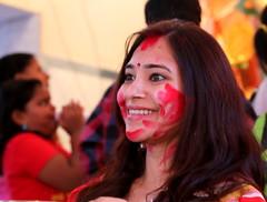 elated (durgeshnandini) Tags: hinduism jaipur durgapuja bengali canoneos6d sindoorkhel
