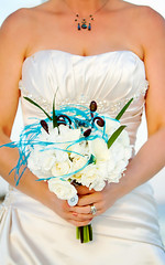 R-K Wedding 2011, beautiful gown and bouquet